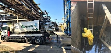 Ormonde – czyszczenie przemysłowe – odkurzanie przemysłowe – czyszczenie zbiorników i silosów – czyszczenie hydrodynamiczne zbiorników